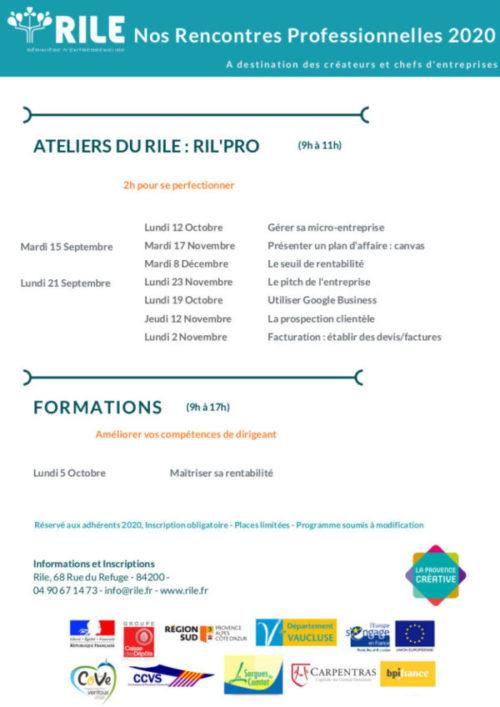 programme rencontres professionnelles 2020